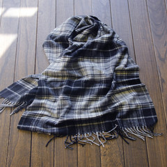 British Department of cashmere, wool blending, scarf, shawl double use, thickening fashion, two color long female Black-and-white grid