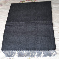 08106 cashmere wool blended light shrink cashmere charcoal gray scarf ashes