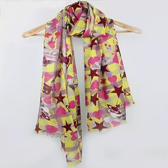 The order of the Empress Dowager cashmere wool and bright Saturn female fashion personality all-match Scarf Shawl Yellow powder