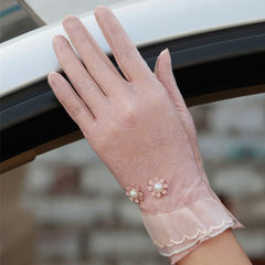 Ladies wear sunscreen gloves, touch screen, touch screen, cell phone touch screen gloves, C