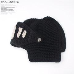 Hongkong Korean fashion tide, lovely winter hat, men and women in winter warm knitting thick wool mask Adjustable