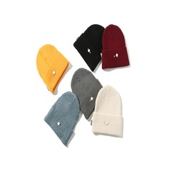 Pragmaty 2016AW high quality pure wool cold hat knitted line cap 6 color 249703 Adjustable