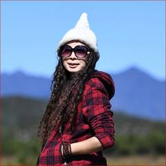 Beijing forest outdoor autumn winter hand - made small pointed wool hat warm damp knitted hat 100 sets of pointed hat women can be adjusted