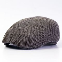 Spring Festival for male and female Knit Beret peaked cap Vintage forward hat Cape Cap Hat workers M (56-58cm)