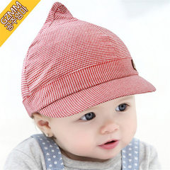 Spring tide 3-6-12 months infant hat and baby Bailey Scha peaked cap cotton children's fashion S (54-56cm)