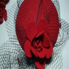 The new bride gauze small hat headdress spring summer hat Korean Wool Beret manufacturers selling