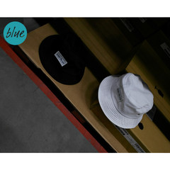 [Blue CAP] 2017 summer new UNDER THE SUN, lovers of men and women, fishermen, hats, pots, hats, mail M (56-58cm)