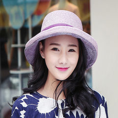 Korean fashion hats cap summer UV Visor Beanie color lady butterfly eaves L (58-60cm)