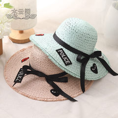 Hat Girls Summer Beach Travel Tourism sun visor cap all-match parent-child lady beach fisherman hat tide S (54-56cm)
