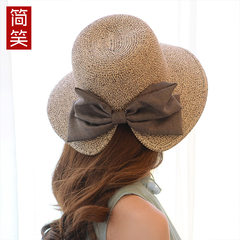 The summer sun hat hat female Korean bow fisherman hat travel anti sun hat Sai Beach Hat S (54-56cm)