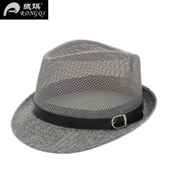 In the elderly male elderly leisure hat hat summer breathable hat leisure spring thin gauze hat M (56-58cm)