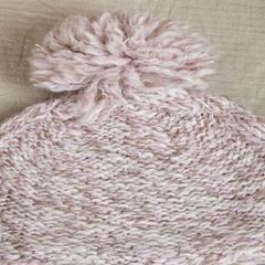 """Little Lily"" Danish original single foreign trade export wool wool! Knitting ball ear twist wool hat Adjustable Maca powder"