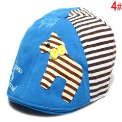 Korean version of the baby cap baby beret cap baby cap baby visor cap 0, 1, 2, 3 years old S (54-56cm) pony sky blue