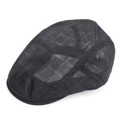 Spring and summer Unisex hat peaked cap peaked cap breathable outdoor Mesh Hat Beret Adjustable Black 8381