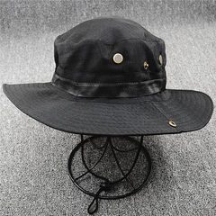 Sun hat for women, sun hat for summer, sun hat for fishermen, sun hat M (56-58cm), black (without mesh)