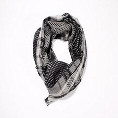 意大利进口GALLIENI 1889 灰色格纹波点羊毛围巾