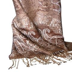 North sheep, single French designer tassels, Australian lamb, wool, high count yarn, three color yarn dyed jacquard scarf