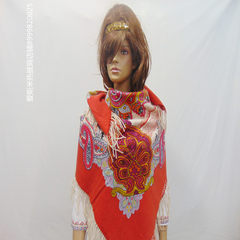Xinjiang pure wool cashmere shawl scarf shawl lady folk style color is really generous...