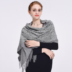 Antelope good morning, ladies 70%, wool lace warm, moderate thickness, dignified and elegant scarf, shawl