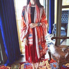 The summer long scarf summer sand beach towel scarf scarf shawl sunscreen sunscreen all-match large cotton scarf