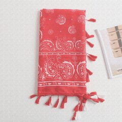 Yunnan Tibet folk style cotton scarf shawl scarves Thin Long Hui Sun red scarf and air conditioner