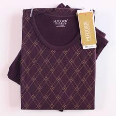 Flowers 2016 12a03a cotton wood grain male underwear - generation ERGs long johns suit 22061 Grape red