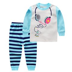 2017, new girls, children's home clothing, underwear, baby fashion, cotton leisure, two sets of tide Music headset 80cm