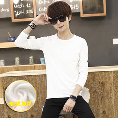 Autumn and winter new men's underwear Male Juvenile Long Johns with cashmere Korean slim suit tide Whole shop full two pieces, can reduce five yuan 812 - black on white suit