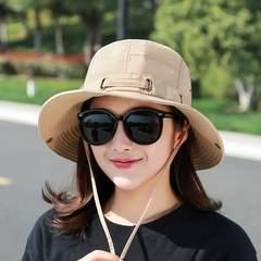 Outdoor sports, female sun shading, fisherman's hat, mountaineering, hiking equipment, fishing supplies, fishing gear, fishing, sunscreen S (54-56cm) Dark Khaki