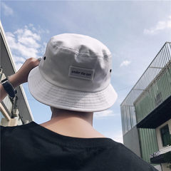 The fisherman hat summer 2017 men all-match fashion simple sunshade hat embroidery labeling tide L (58-60cm) White label