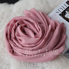 Rubber powder rose pink silk ultra large size high-grade genuine Warm Winter Scarf Shawl scarves Long 195CM width 110CM