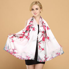 China silk shawl, wind changeable multifunctional scarves silk scarf for female spring and winter Ten li peach blossom