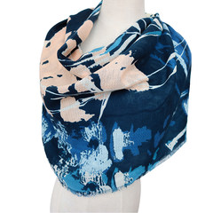 Export single foreign trade new autumn and winter thin color mixed color scarf scarf shawl England all-match warm shawl Blue yellow