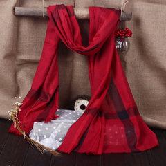 Shipping B new long super female cotton and British style classic plaid scarf shawl and burr Orange Plaid
