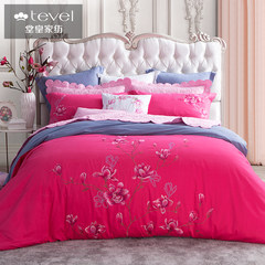 Tevel/ or four sets of cotton textile thick sanding cotton embroidery grand 12zp-5b Magnolia Iran 1.5m (5 feet) bed