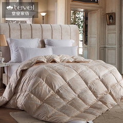 The stately home of autumn and winter white goose down thickened quilt core Aston grand genuine velvet wrapped mail 200X230cm