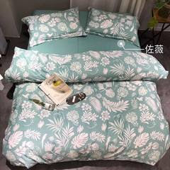 The cattle winter sanding cotton jacquard printing four pieces single 1.5 meters 1.8 meters 2 meters four sets of double Zoie 1.8m (6 feet) bed
