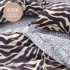 American cotton sanding four piece thick warm winter cotton bed linen bedding 1.8m Leopard Zebra zebra fitted models 1.2m (4 feet) bed