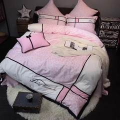 The new cotton 60 Egyptian cotton four piece mosaic Sexy Pink Leopard bedding quilt Pink Leopard Print five piece 1.5m (5 feet) bed