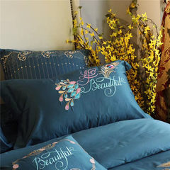 60 sets of four pure cotton satin embroidery embroidery pure folk style Phoenix bedding bedding Fengwu nine days four sets 1.0m (3.3 feet) bed