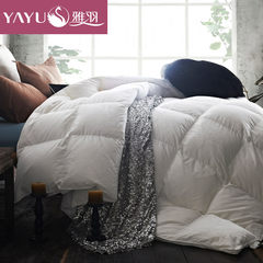 Elegant feather and down by 90 white feather thick warm winter quilt Cotton Satin Jacquard double was the core shipping 200X230cm B / 3D stand / white