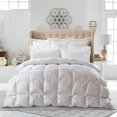 Quiet down by 90% white cashmere quilt thick winter genuine duvet single double core special offer student dormitory 200X230 fill 1200g Gray flower