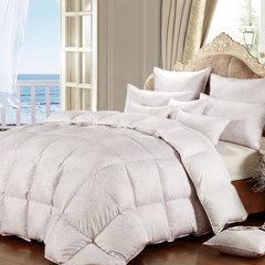一朵绒正品酒店90%白鹅绒羽绒被子贡缎单人被芯加厚保暖羽绒冬被 200X230cm 凯撒之殿