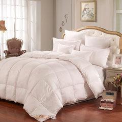 一朵绒正品酒店90%白鹅绒羽绒被子贡缎单人被芯加厚保暖羽绒冬被 200X230cm 雅典娜