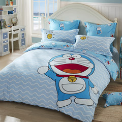 LOVO Carolina textile bedding life produced A dream of cotton bedding set of four water world Doraemon A - happy water world! 1.5m (5 feet) bed