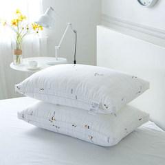 Simple cotton pillow, leisure feather, velvet stereo pillow, super soft pillow, low pillow, five star hotel, single side pillow WW stereo (Dan Zhi) pillow hanger