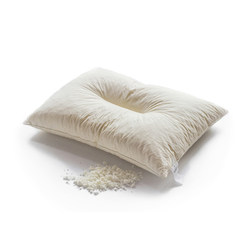 Bai Wen Jia natural latex pillow cotton neck pillow latex particle height adjustable pillow single latex pillow Two partition