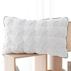 Hotel order 1300G double sided filling, 95 white duck down pillow, bread, single anti insomnia pillow, pillow core Diamond case