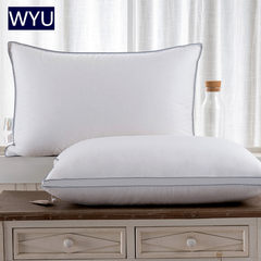 Five star hotel 95 white goose feather pillow adult nursing cervical vertebra health care pillow to shoot 2 genuine export 50x90 pillow in the 1 solid edge (soft and hard moderate)