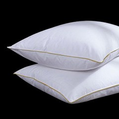 Five star hotel white goose feather pillow core cotton downproof fabric filled pillow buy three sent a Single medium pillow